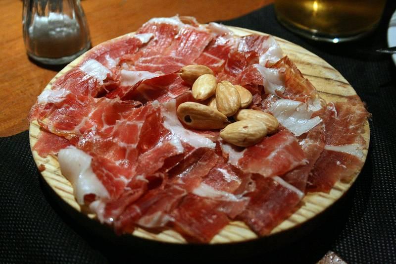 plato de jamon